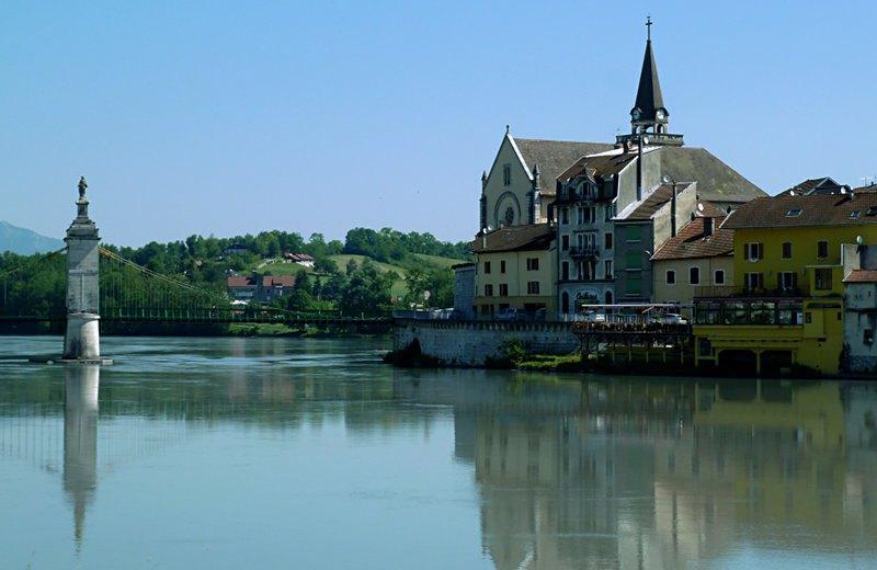 Seyssel (Haute-Savoie), von Seyssel (Ain) gesehen
